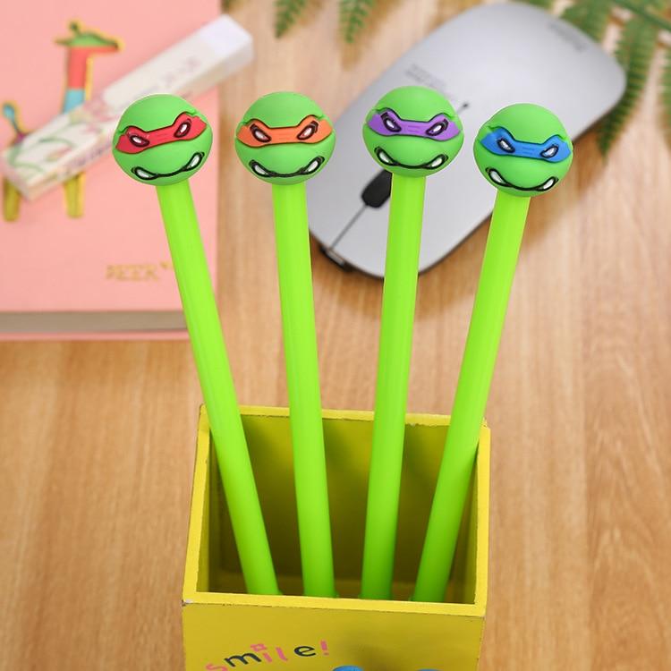1 Pcs/lot Creative Kawaii Ninja Turtles Gel Pen Stationery Office Material Escolar Papelaria School Supplies Free Shipping