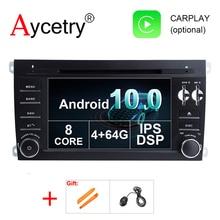 DSP IPS 2 Din Android 10 автомобильный DVD мультимедийный плеер GPS навигация для Porsche Cayenne 2003 2010 радио fm стерео головное устройство obd2