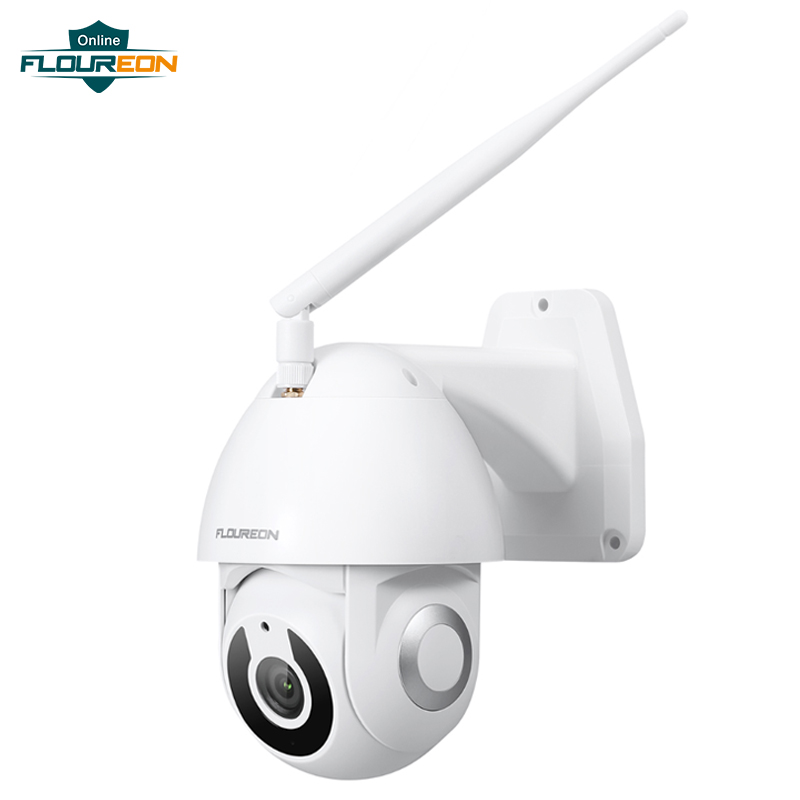 Floureon New Wireless WiFi IP Camera IP66 Weatherproof Outdoor 1080P HD Camera Smart Motion Tracking App Alarm Work With Alexa