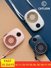 Ventilador de pescoço portátil mini usb ventilador de mão 5v cooler recarregável ventilador de viagem ao ar livre silencioso pequenos ventiladores de refrigeração display led