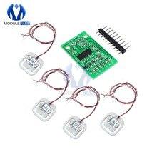 Capteurs de poids à cellule de charge pour balance humaine 50kg, 4 pièces, Module AD HX711, capteur de charge corporelle, outils de mesure de pression