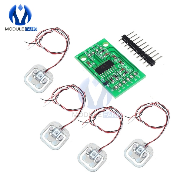 4Pcs 50kg Human Scale Load Cell Weight Sensors HX711 AD Module Body Load Cell Weighing Sensor Pressure Measurement Tools