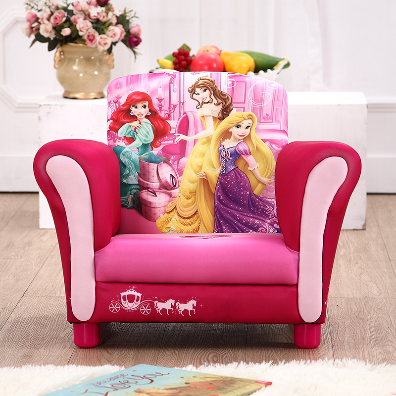 Children's Sofa Cartoon Princess Sofa Baby Child Sofa Stool Chair Small Sofa Combination Fabric