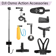 Buy Selfie Stick Phone Clip Bicycle Car Bracket Buoyancy Rod Backpack Clip Tripod Strap Headband Chest Strap for DJI Osmo Action directly from merchant!