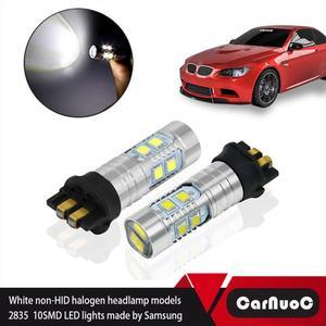 Светодиодный фонарь PW24W без ошибок 2x, Сменные лампы для Audi A3 A4 A5 Q3 Volvo S60 XC60 Citroen C4 Peugeot 208, дневный ходовой светильник