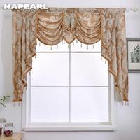 NAPEARL-cenefa de cuentas de lujo, cortina de ventana decorativa rústica para el hogar, cortinas de cascada para sala de estar, lista para hacer, 1 pieza
