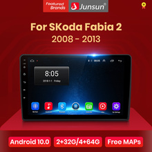 Junsun V1 Android 10.0 DSP CarPlay autoradio Multimedia lettore Video Auto Stereo GPS per Skoda Fabia 2 2008 - 2013 2 din dvd