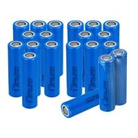 10 20pcs Anmas Power Blue 2600mAh ICR 18650 26F 3.7V 2600mAH Li ion Flat Top Rechargeable Batteries Battery