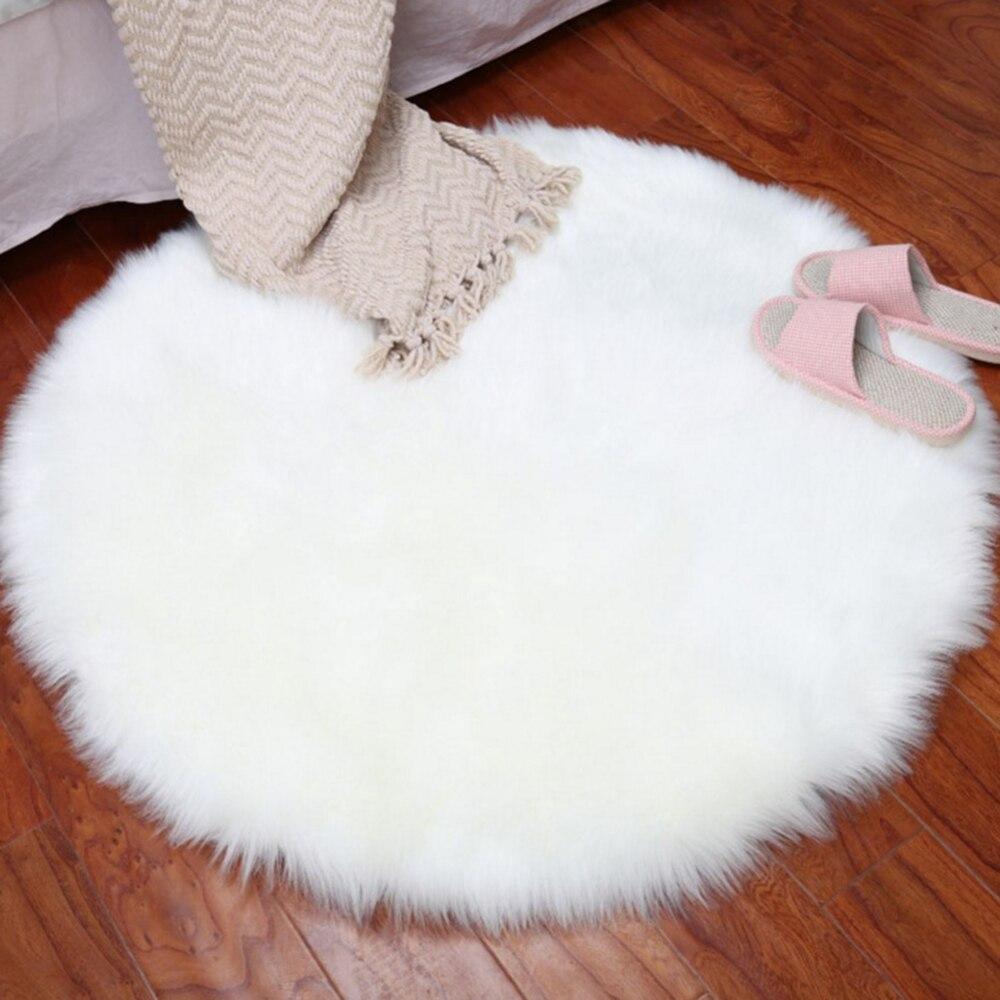 Tapis rond Ultra doux tapis pour salon décor tapis enfants chambre longs tapis en peluche pour chambre tapis Shaggy tapis moderne