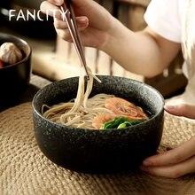 FANCITY-poignet à nouilles créatif, grand bol en ramen, bol de bouillie pour millet en céramique et bol à nouilles et soupe de boeuf