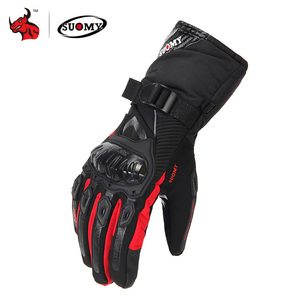 Image 1 - SUOMY Motorcycle Gloves Men 100% Waterproof Windproof Moto Gloves Touch Screen Gant Moto Guantes Motorbike Riding Gloves