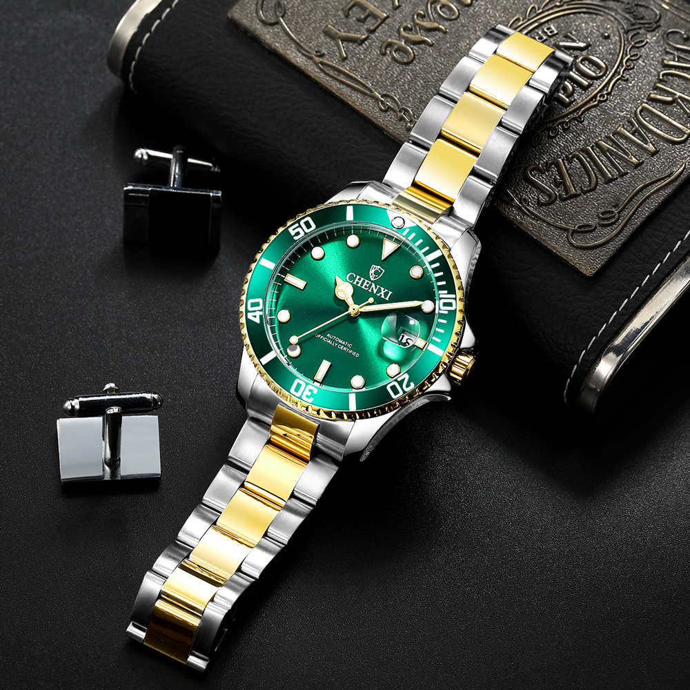 2020 envío directo de la marca superior de CHENXI reloj mecánico automático para hombre reloj impermeable de acero inoxidable dorado para hombre reloj Masculino