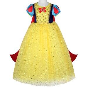 Image 5 - Disney Kinder Kleider für Mädchen Schnee Weiß Kostüm Prinzessin Kleid Halloween Weihnachten Party Cos kinder Kleidung Neue Jahr