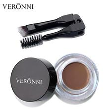 VERONNI Professional Eyebrow Gel 8 Colors Enhancer Brow Enhancers Tint Makeup Brown With Brush Tools