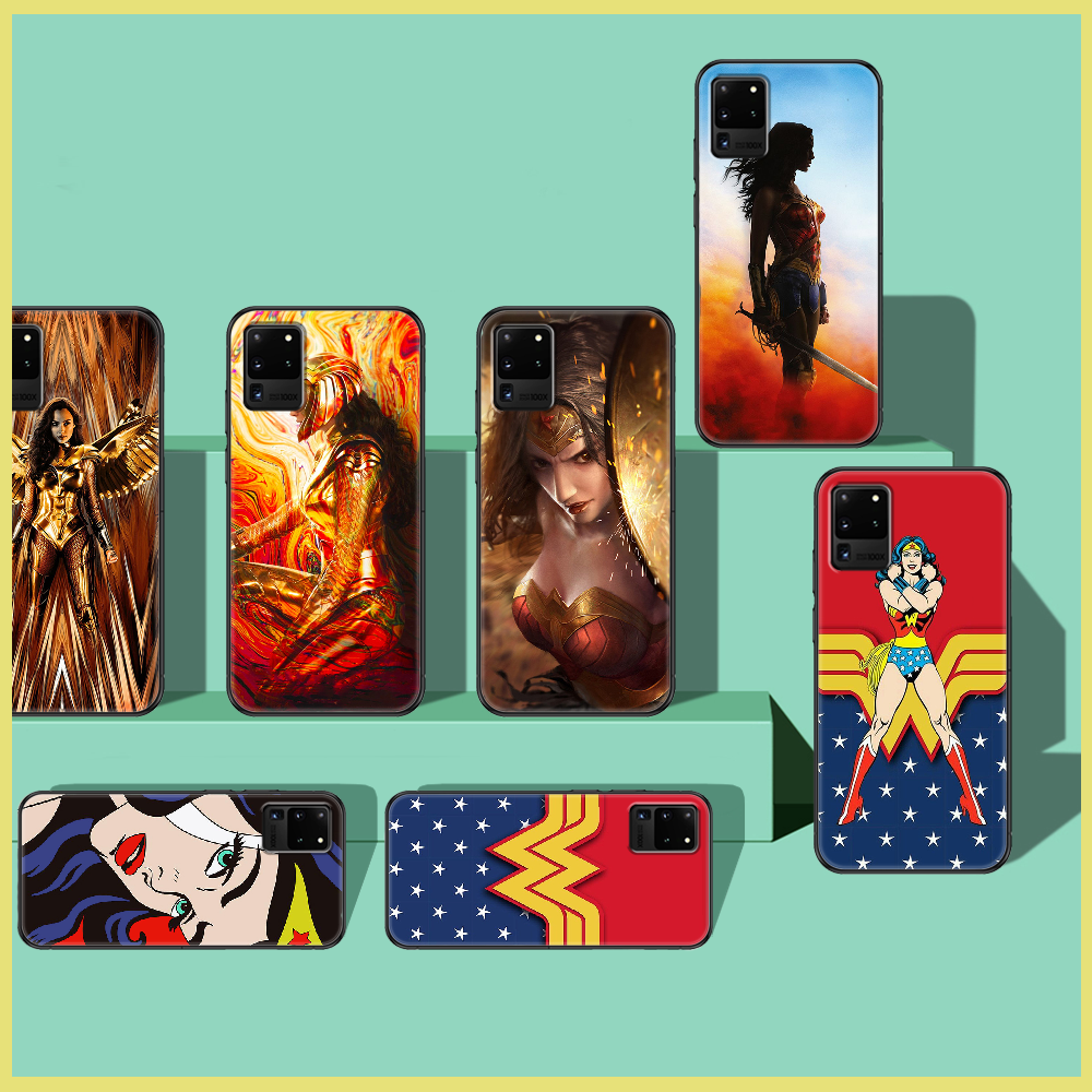 Wonders Pop Woman Phone case For Samsung Galaxy Note 4 8 9 10 20 S8 S9 S10 S10E S20 Plus UITRA Ultra black art back luxury funda