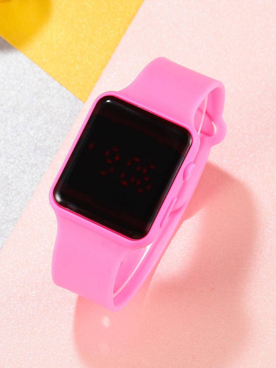 Girl Watch Boy Clock Electronic-Dress Kids Children Quartz LED