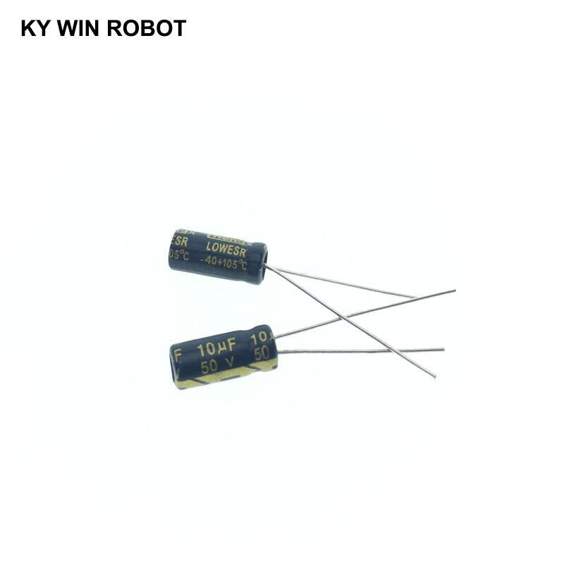 Image 5 - 50 pcs/lot 10UF 50V 10mf 105C 5X11mm condensateur électrolytique en aluminium 50V10UF 50pcs de plomb radialelectrolytic capacitorsaluminum electrolytic capacitor10uf 50v -