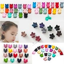 10pcs new cute childrens hairpins scrub mini flowers cartoon clip color random fashion hair accessories