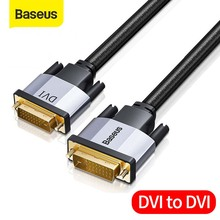 Baseus 24 + 1 קישור כפול זכר לזכר דיגיטלי וידאו שני בדרך כבל המרת DVI כבל עבור מקרן, משחקים, DVD, מחשב נייד, HDTV, מחשב