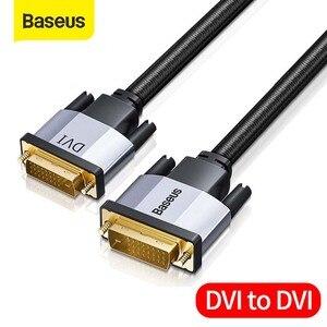 Image 1 - Baseus 24 + 1 קישור כפול זכר לזכר דיגיטלי וידאו שני בדרך כבל המרת DVI כבל עבור מקרן, משחקים, DVD, מחשב נייד, HDTV, מחשב