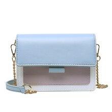 цена на Fashion PU Leather Crossbody Bag Female Hit Color 2020 Small Shoulder Bag Female Summer Crossbody Chain Bag