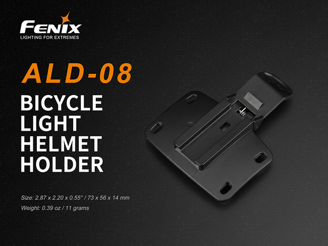 Original Fenix ALD 08 bicycle light helmet holder