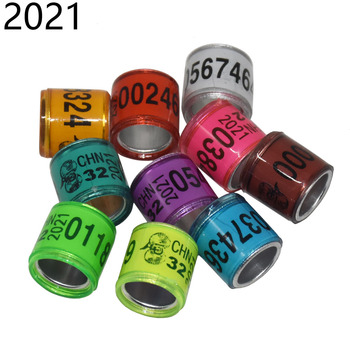 50 Pcs 2021 Multicolor Pigeon Foot Ring With Word Earrings Quality Durable Bird Ring Racing Pigeon Foot Ring Bird Tools