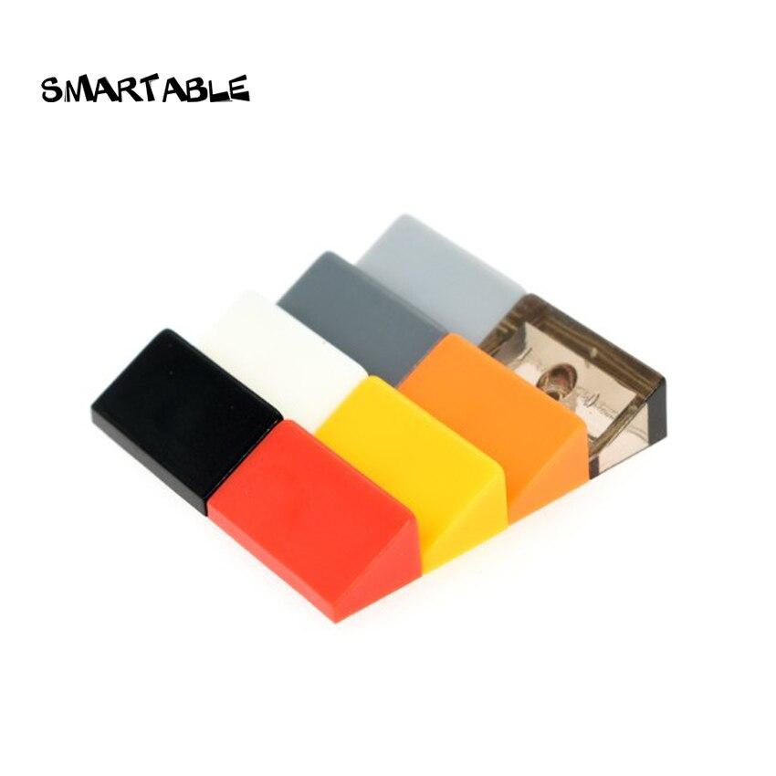Скат Smartable 30 ° 1x2x 2/3, строительные блоки, кирпичи MOC, детали, обучающие игрушки для детей, совместимые с крупным брендом 85984 100 шт./лот