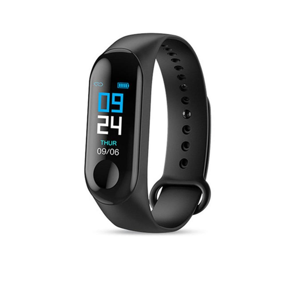 M3 Smart Bracelet Band Blood Pressure Heart Rate Fitness tracker Sleep monitor sport Smart watch color screen for men women kids