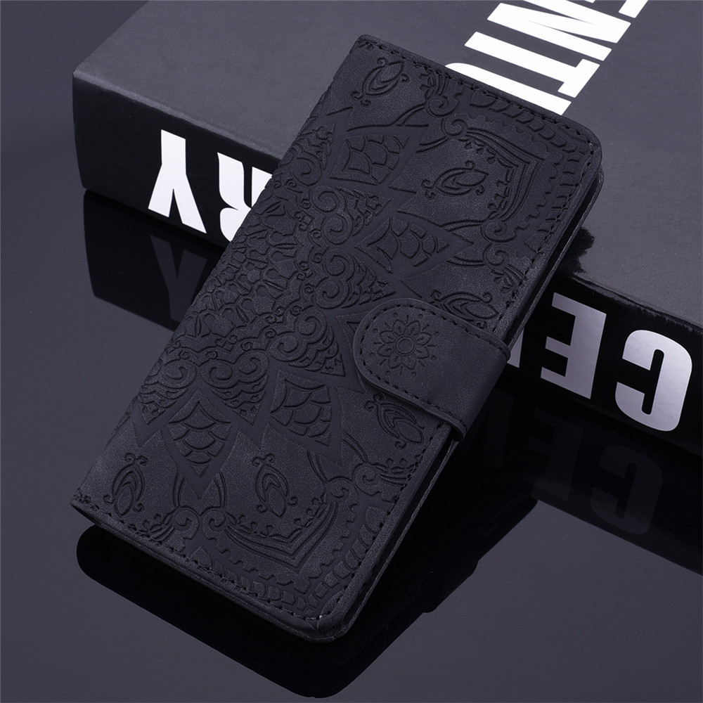 H494701485dd847078839b130e5b07749D Matte Leather Phone Case For Samsung Galaxy A50 A70 A30 A40 A20 A10 A10E A20E A10S A20S A30S A50S Flip 3D Mandala Book Case
