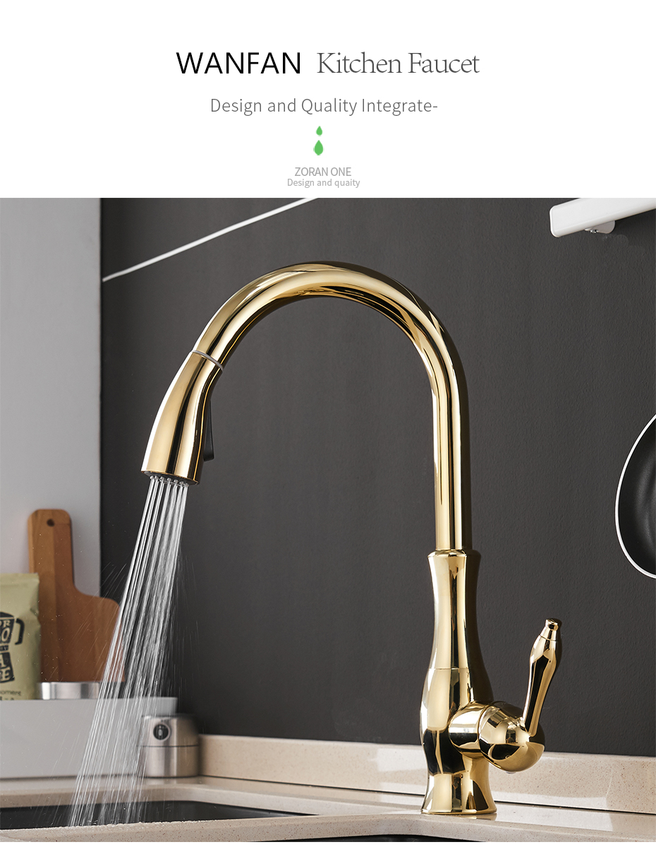 H49470edeed444b9d84ce174282ce0810z Gold Kitchen Faucets Silver Single Handle Pull Out Kitchen Tap Single Hole Handle Swivel Degree Water Mixer Tap Mixer Tap 866011