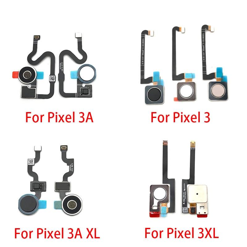 Fingerprint Scanner For Google Pixel 3 3XL 3A XL ID Home Button Fingerprint Menu Return Key Recognition Sensor Flex Cable