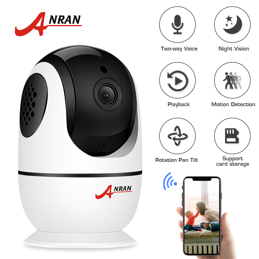 ANRAN Wifi 1080P HD Night Vision Wireless Camera Baby Monitors Security Surveillance Camera Two-way Audio Wireless Camera