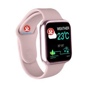 Image 3 - 38Mm Smart Horloge Serie 5 Mannen Vrouwen Horloge Hartslagmeter Bericht Herinnering Voor Android Apple Horloge Pk P68 a1 Iwo Smartwatch