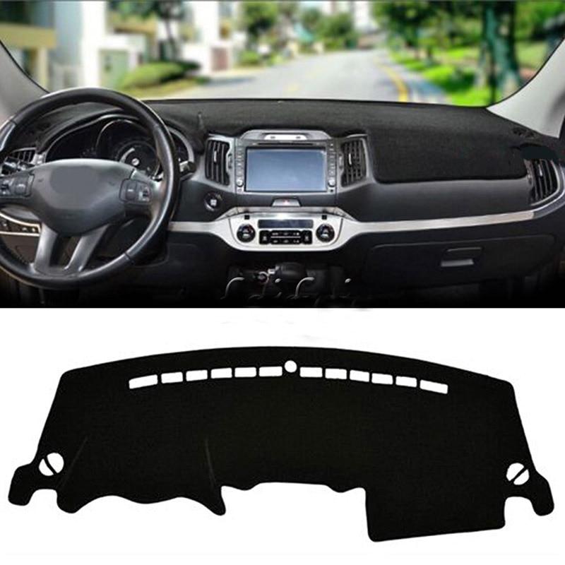 LHD Car Dashboard Cover For KIA Sportage R 3rd 2011 2012 2013 2014 2015 Mats Shade Cushion Interior Protector Summer Accessories