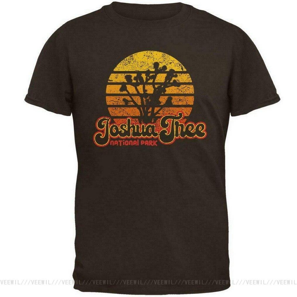 Национальный парк Ретро 70s закат Джошуа Мужская футболка Популярные без тегов