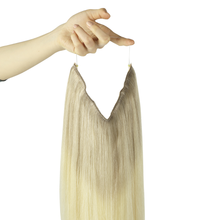 Straight Fish Line Human Hair Extension Halo Hair Extensions Invisible Wire Hair Extensions