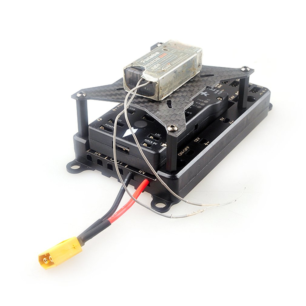 Carte de Section Servo de Distribution de puissance Servo 5 V-12 V avec double fil d'entrée de puissance et commutateur électronique pour avion à essence RC
