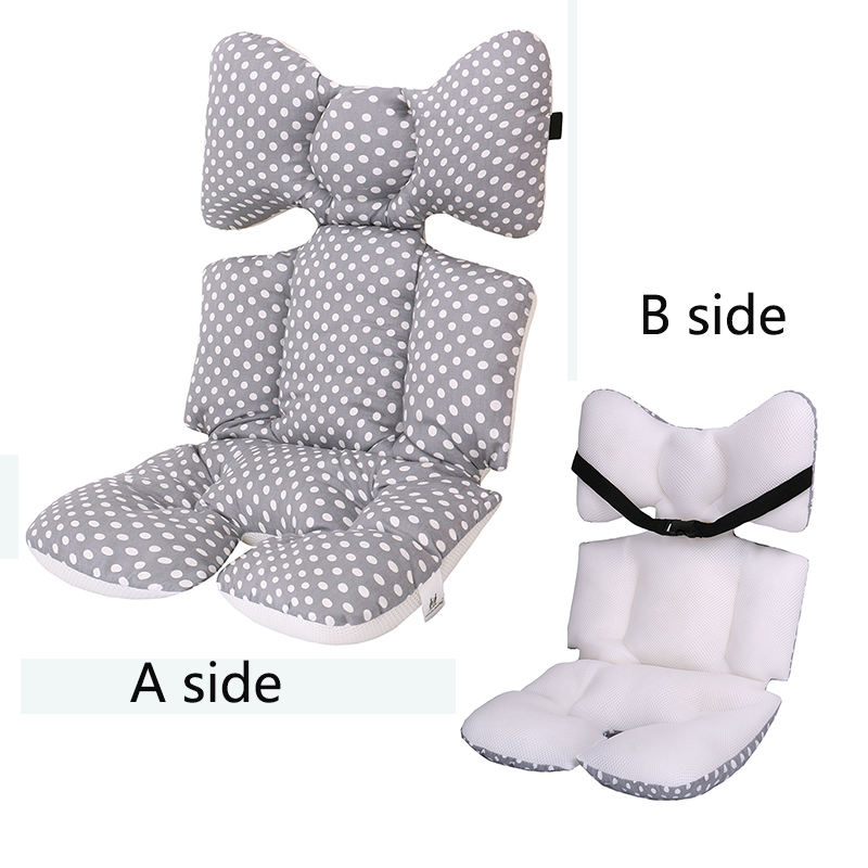 2 Sides Baby Printed Stroller Pad Seat Cushion Pad Mattresses Pillow Cover Child Carriage Cart Pad Trolley Chair Cushion