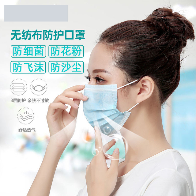 Anti-Pollution 3 Layers Mask dust protection Face Masks Disposable Dust Filter Safety Mouth Mask Proof Flu Earloop Face Masks 4