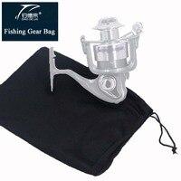 Tampa de proteção de roda de pesca  preta  acessórios de pesca duráveis abaixo de 500 séries  bolsa de engrenagem de pesca  ferramenta de peixe  roda  saco de proteção