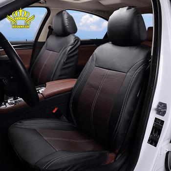 Marka siedzenie samochodowe ze skóry pu obejmuje uniwersalny pasuje większość pokrowce samochodowe oddychający ochraniacz na fotel wnętrze luksusowe pokrycie siedzenia samochodu tanie i dobre opinie rownfur Cztery pory roku Sztuczna skóra 2inch 46inch Pokrowce i podpory Podstawową Funkcją car seat covers black red-black blue-black gray-bllack brown-black