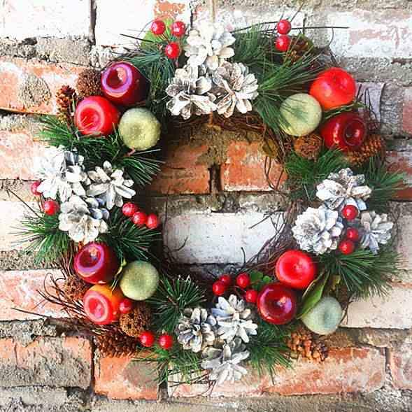 Corona De Navidad Hecha A Mano Para Puerta De Otoño Guirnaldas Secas Para Exteriores Fiesta De Recolección Con Pinza Guirnaldas Y Coronas De Flores Aliexpress