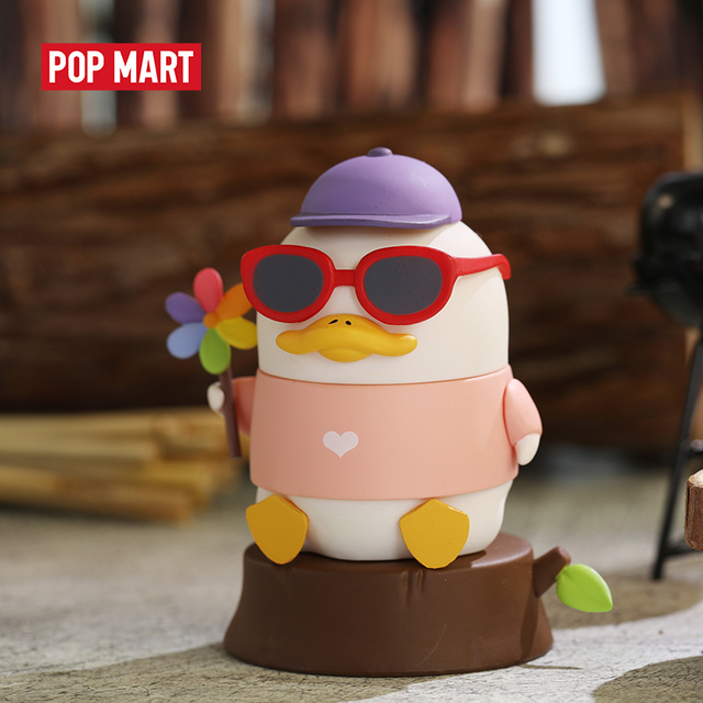 POP MART Duckoo Duck figure in the forest Blind Box Doll Binary Action Figure Birthday Gift Kid Toy