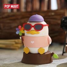 POP MART figura de pato Duckoo en el bosque, muñeca de caja ciega, juguete binario, regalo de cumpleaños, chico