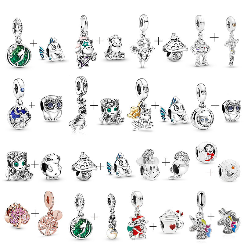 2Pcs/lot 45 Styles Ocean Series Charms Beads Pendant Fit Original Pandora Charm Bracelets Necklaces For Women DIY Jewelry Making(China)