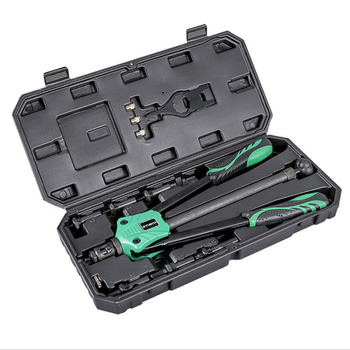 цена на 13/14/15Hand Riveter Rivet Gun Heavy Hand Inser Nut Tool CR-V Blind Rivet Nut Gun M3-M12 with LuxuryBox Rivet Gun
