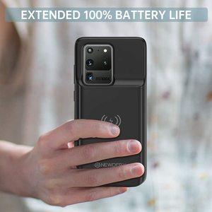 NEWDERY чехол с аккумулятором для Galaxy S20 Ultra, Беспроводная зарядка Qi, Совместимый Чехол с зарядным устройством 6000 мАч для Samsung Galaxy S20 Ultra