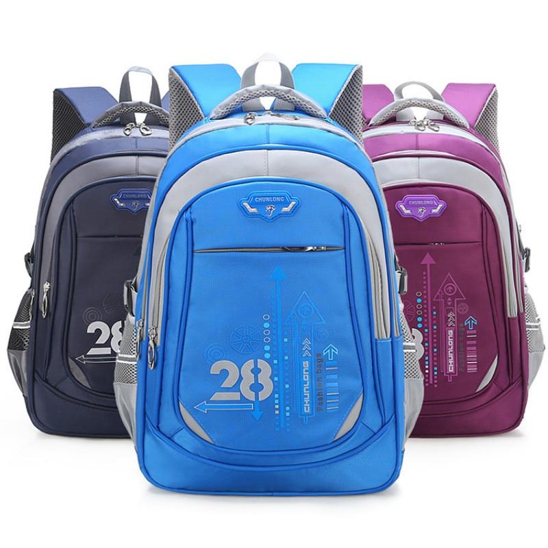 Waterproof Kids School Bags Orthopedic Backpack Schoolbag Nylon School Bags For Girls Boys Children Backpacks Mochila Escolar