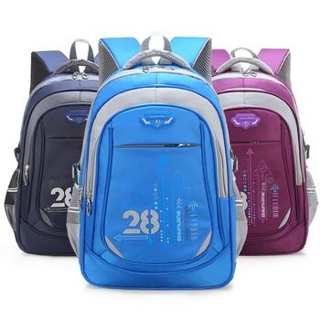 Waterproof Kids School Bags Orthopedic Backpack Schoolbag Nylon School Bags For Girls Boys Children Backpacks Mochila Escolar children s tsum waterproof nylon kindergarten school bags backpacks for girls boys kids kawaii cartoon mochila escolar kids